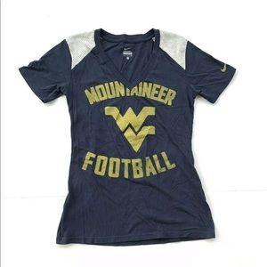 Nike West Virginia Mountaineers Football Blue Tee